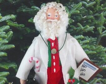 Santa Clause Doll Miniature Art Doc Holiday