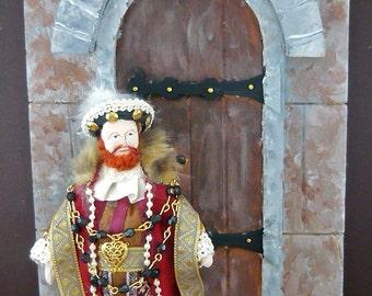 King Henry Viii Doll Miniature Wall Art