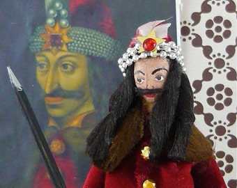 Dracula the Impaler Miniature Historical Art Doll Collectible