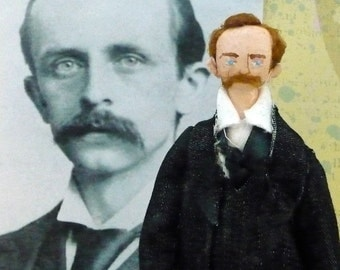 J.M. Barrie Doll Miniature Author of Peter Pan