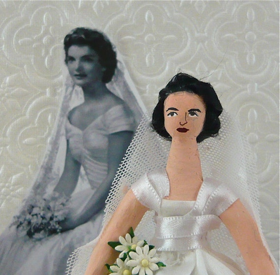 Jackie Kennedy Doll Miniature Wedding Day Bride Character