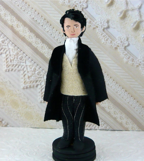 Mr. Darcy Jane Austen Pride and Prejudice Literary Miniature Wooden Art Character