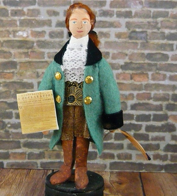 Doll Miniature Jefferson American President Colonial Character