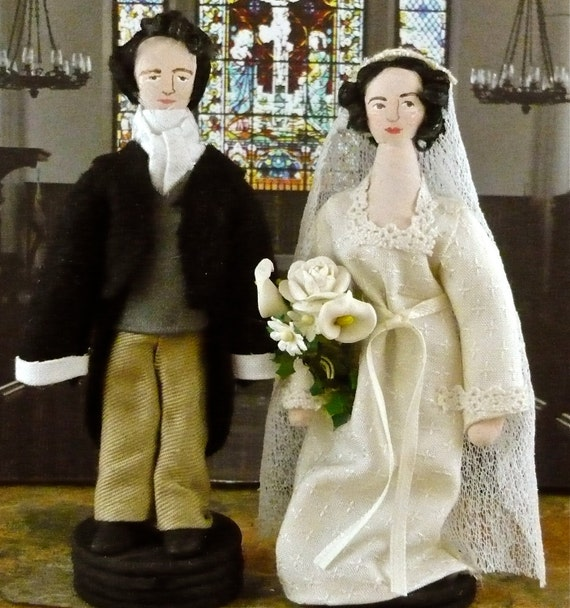 Pride and Prejudice Mr. Darcy and Elizabeth Get Married Miniature Character Doll Set