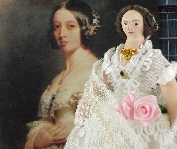 Queen Victoria Doll Miniature British History Character