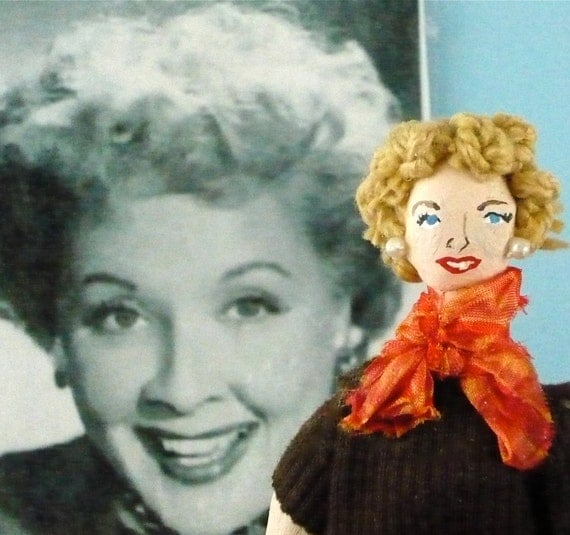 I Love Lucy Doll Vivian Vance Ethel Mertz Collectible Miniature