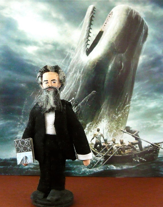 Herman Melville Art  Doll Author of Moby Dick