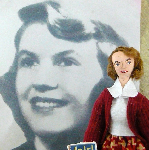Sylvia Plath Doll Miniature Poet and Author Character