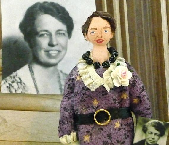 Eleanor Roosevelt  First Lady Art Doll Miniature