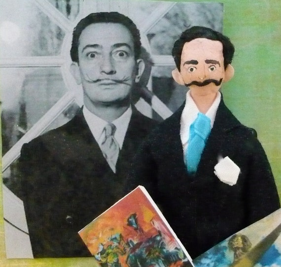 Salvador Dali Doll MIniature-RESERVED for Sue B.