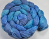 4 oz. 75/25 BFL/Tussah Silk Top - Study in Blues