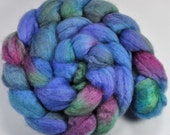 4 oz. 75/25 BFL/Tussah Silk Top - Flora