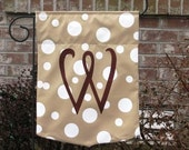 Monogrammed Outdoor Garden Flag - Choose colors