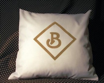 Monogrammed Pillow Cover - Canvas