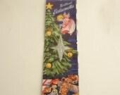 Vintage Silver Tinsel Christmas Tree Germany