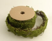 Roll of Green Wired Moss Craft Decor