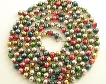 Vintage Multi Color Glass Bead Garland Christmas Tree Garland
