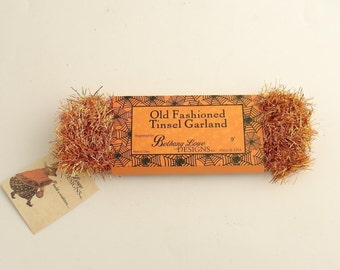 Orange Tinsel Garland Vintage Style Halloween