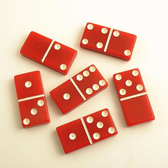 Vintage Dominoes Red