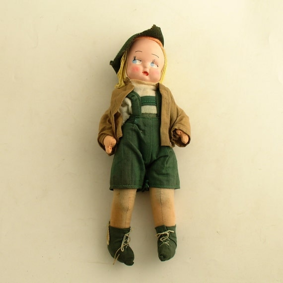 Vintage Boy Doll in Swiss or Tyrolean Costume