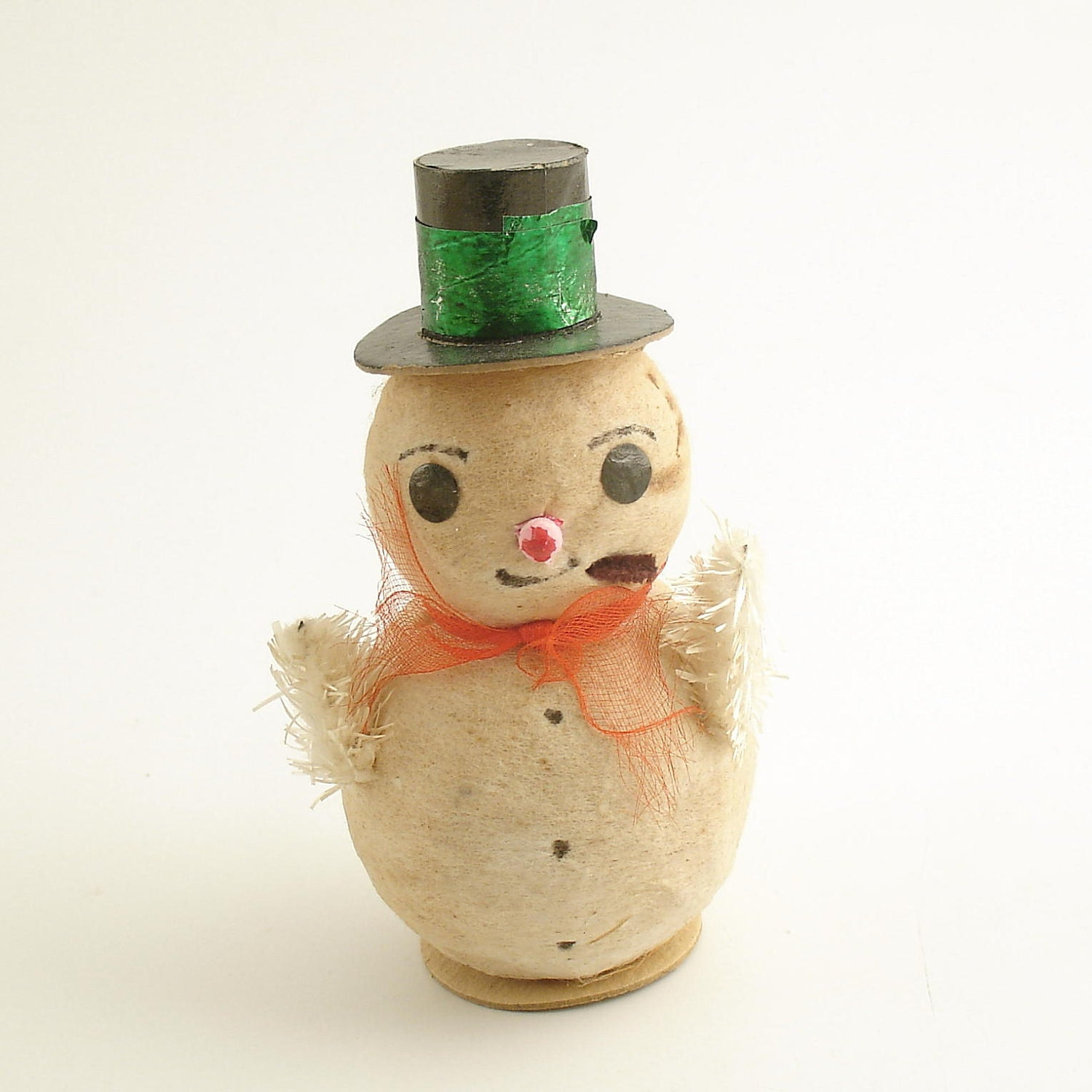 Vintage christmas decoration snowman spun cotton