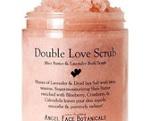 Double Love Scrub - Organic Shea Butter and Lavender - Think Pink for Breast Cancer Research