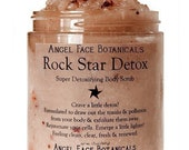 Rock Star Detox Body Scrub by Angel Face Botanicals - An Etsy Beauty Best - 2 oz Travel Size