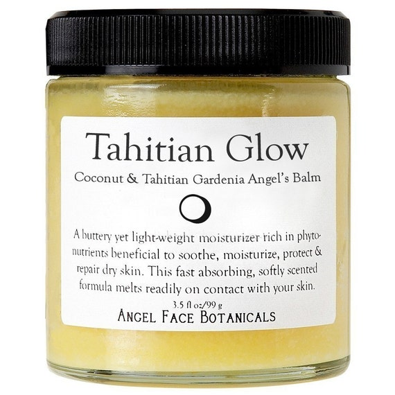 Tahitian Glow Angels Balm - Organic Body Butter Scented with Coconut and Tahitian Gardenia - 4 oz