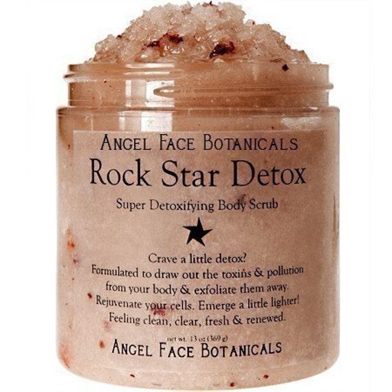 Rock Star Detox Body Scrub by Angel Face Botanicals - An Etsy Beauty Best - 2 oz Travel Size