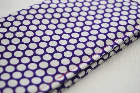 Fabric Checkbook Cover, Women's Wallet,  Handmade Checkbook Holder,   Queen Street