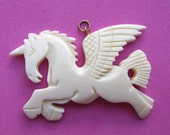 Hand Carved Bone - Pegasus Pendant