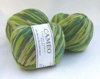 Crystal Palace Cameo Yarn - Greens