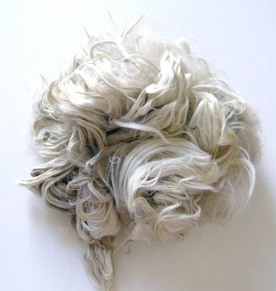 2 Ounces Raw Suri Alpaca - Natural White