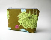 Cosmetic Bag Zipper Pouch, Olive Green