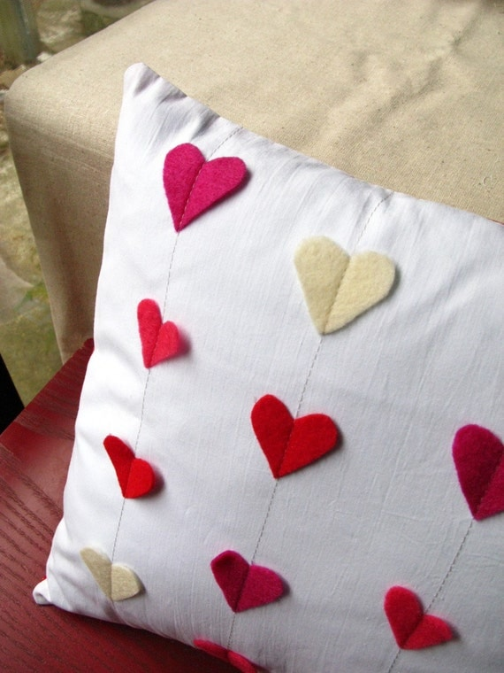 Heart Strings Pillow - Ode to Valentines Day (insert included)