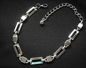 Choker silver metal mens womens