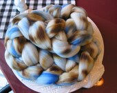 4 oz 100-percent Merino Wool Roving, Hand-dyed, Hand-painted - Speckled Eggs