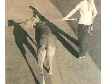 Greyhound Dog Sympathy Card with Envelope