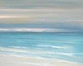 Beach ocean painting art print, seascape painting print, tropical art  by Francine Bradette-FREE S&H