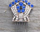 Deco sapphire comb
