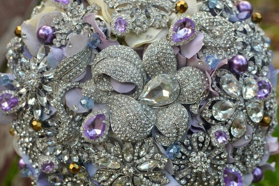 Deposit on an  lavender brooch bridal bouquet--made-to-order