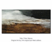 Minimalist Painting - Abstract Art - Earth Tones - Textured Painting - Landscape Painting - 24x48