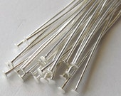 2 inch Silver Plated Head Pins, 20 Gauge, Thick Wire, Pack of 100*CLEARANCE*