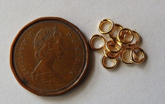 4mm Gold Plated, Jump Rings, 20 Gauge, Round, Open, Pack of 100 *CLEARANCE*