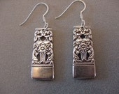 Spoon Jewelry Earrings - 1936 CORONATION Vintage Silver Spoon Earrings - Silverware Jewelry