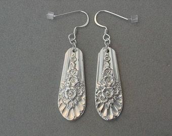 Silver SPOON Jewelry EARRINGS - 1953 JUBILEE Spoon Earrings - Spoon Silverware earrings