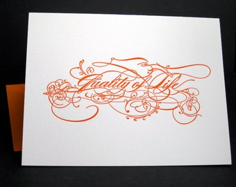 Quality of Life - Pair of Letterpress Notecards