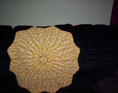 Moving Sale! Star Baby Afghan - Yellow and White