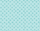 Riley Blake Bohemian Festival by Lila Tueller Dots in Blue Cotton Quilting Fabric 1 Yard