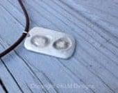 2 FINGERPRINT--Fine Silver--DOG TAG--necklace--key chain